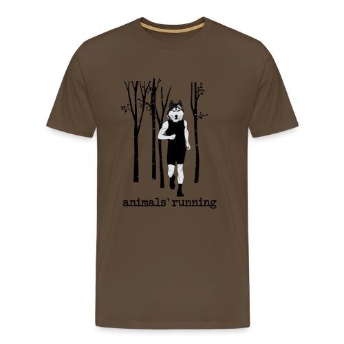 Loup running - T-shirt Premium Homme
