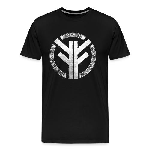 Forefather symbol white - Men's Premium T-Shirt