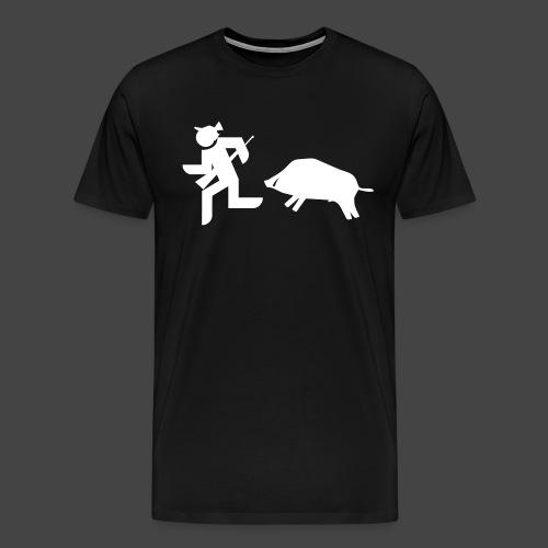 """Jäger vs Keiler""-Shirt für Jäger - ein Klassiker! - Männer Premium T-Shirt"