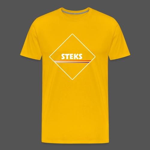 3Color STEKS™ Logo - Mannen Premium T-shirt
