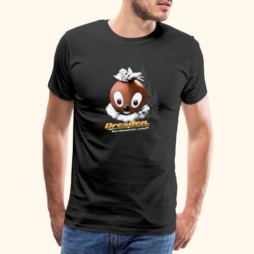 Pittiplatsch 3D Dresden auf dunkel - Männer Premium T-Shirt