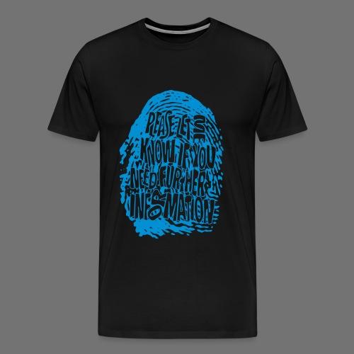 Sormenjälki DNA (sininen) - Miesten premium t-paita