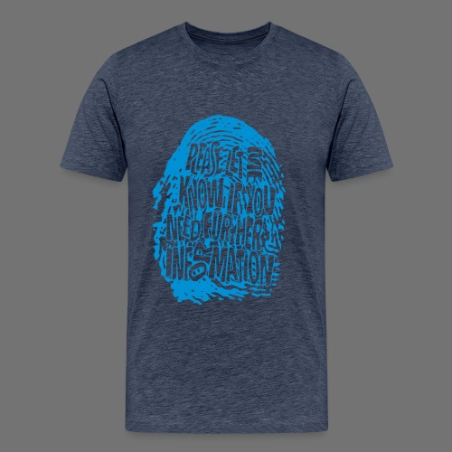 Fingerprint DNA (blue) - Men's Premium T-Shirt