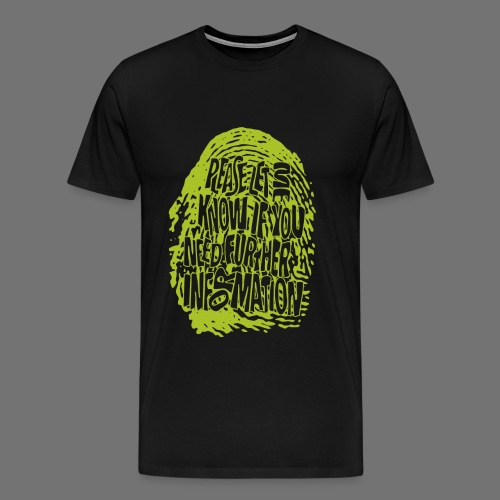Fingerprint DNA (grøn) - Herre premium T-shirt