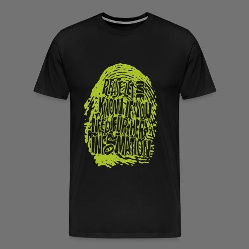 Sormenjälki DNA (vihreä) - Miesten premium t-paita