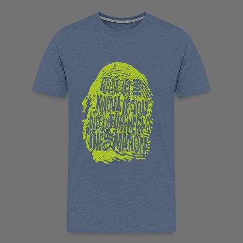 Fingerprint DNA (green) - Men's Premium T-Shirt