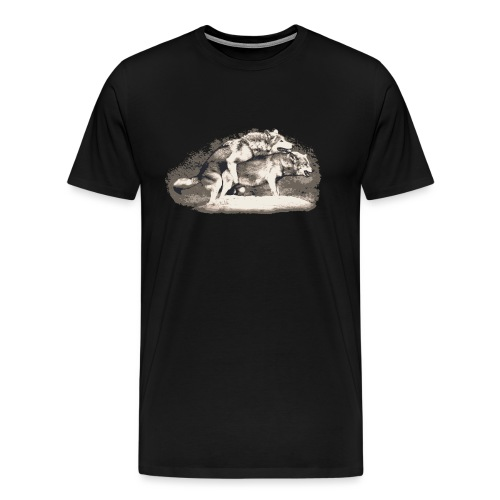 Wolf Loup Lupo Lobo - Men's Premium T-Shirt