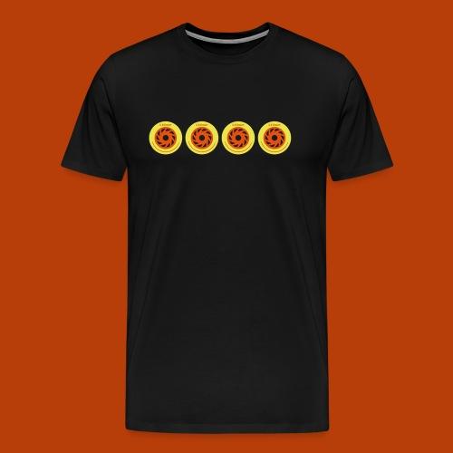 Inline Speedskating Rollen 4 x 110mm - Männer Premium T-Shirt
