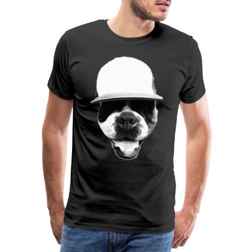 Bulldogge mit Hut - Männer Premium T-Shirt