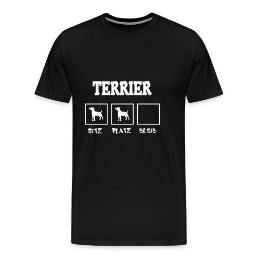Terrier SITZ PLATZ BLEIB - Männer Premium T-Shirt