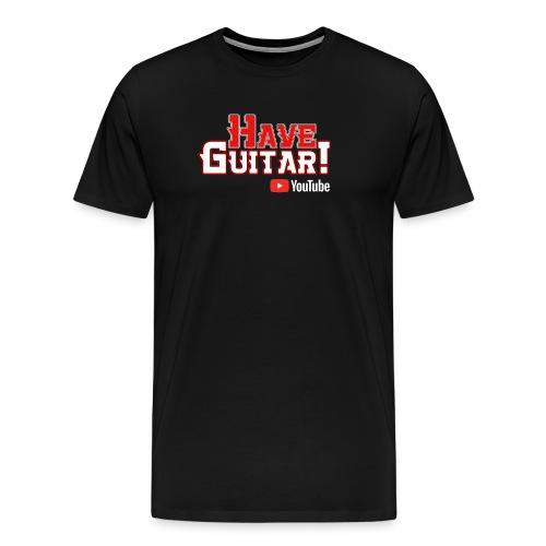 Have Guitar YT-logo - Premium-T-shirt herr