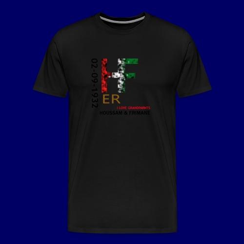 H&F ER - Maglietta Premium da uomo