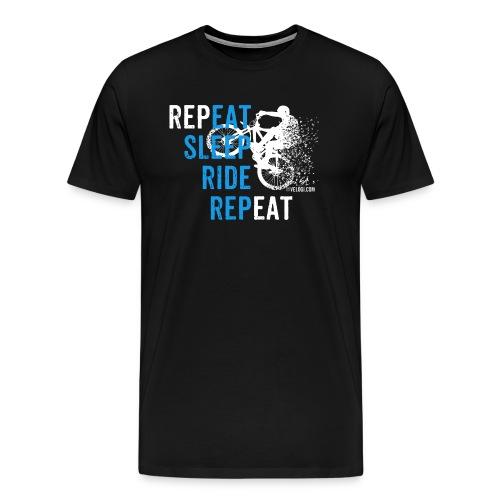 Eat Sleep Ride Repeat MTB w - Miesten premium t-paita