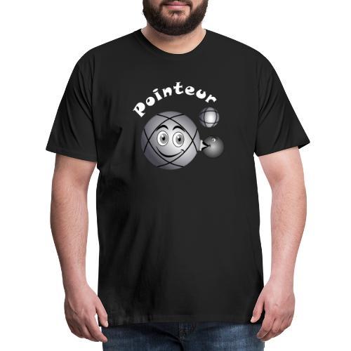 t shirt pétanque pointeur boule existe en tireur B - T-shirt Premium Homme