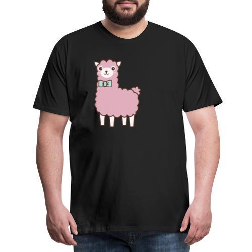 fluffy Lama - Männer Premium T-Shirt