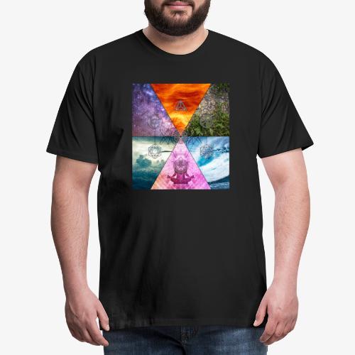 Platonic Solids Metatron's Cube Flower of Life X - Men's Premium T-Shirt