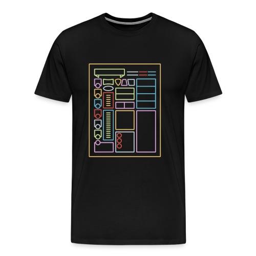 Dnd-merkistötaulukko - Miesten premium t-paita