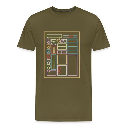 Dnd-merkkilehti - DnD Dungeons & Dragons D & D - Miesten premium t-paita