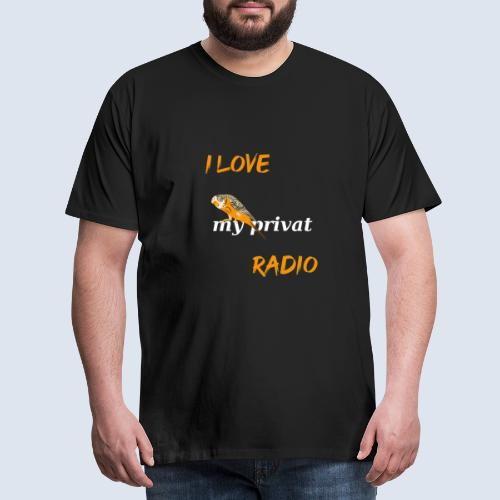 Wellensittich mein privates Radio - Männer Premium T-Shirt
