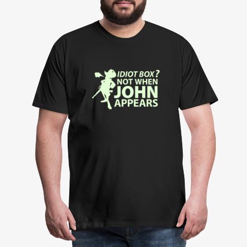 Caja tonta no con John - Camiseta premium hombre