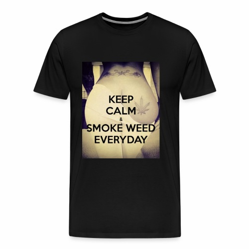 Keep Calm & Smoke Weed Everyday - Koszulka męska Premium