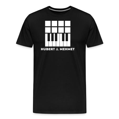Hubert Mehmet Logo White gif - Männer Premium T-Shirt
