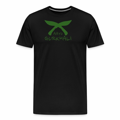Aayo Gurkhali - Khukuri cross - Men's Premium T-Shirt