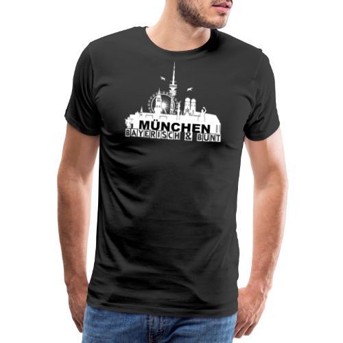 MUENCHEN BAYERISCH BUNT (LOGO WS) - Männer Premium T-Shirt