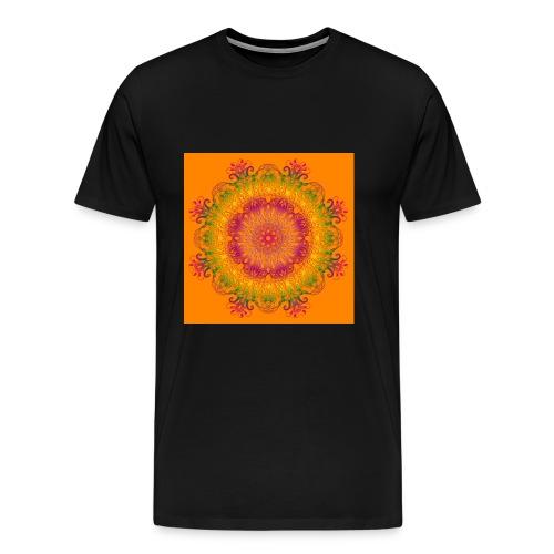 mandala floreale arancione - Maglietta Premium da uomo