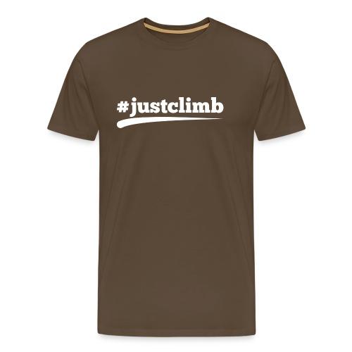 #JUSTCLIMB - Männer Premium T-Shirt