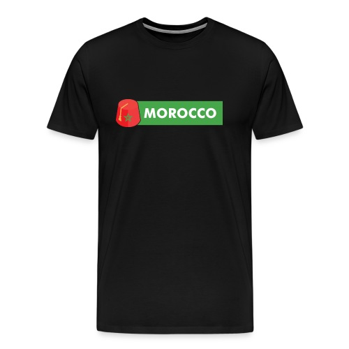 morocco, Maroc, tarbouch marocain - T-shirt Premium Homme
