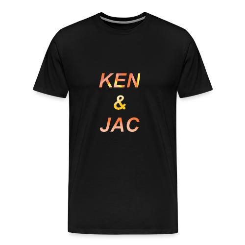 Ken & Jac Logo - Premium T-skjorte for menn