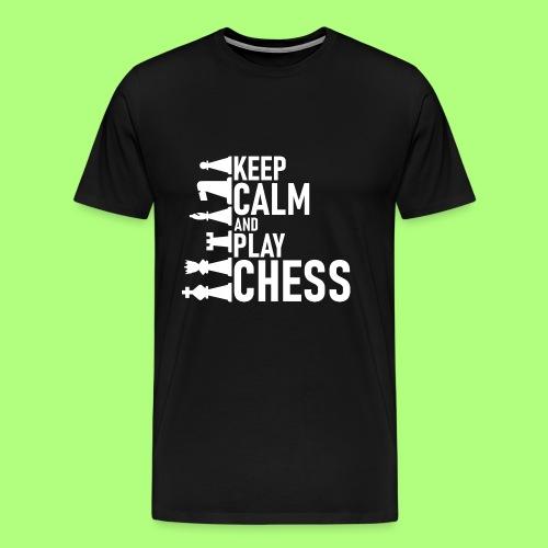 chess Spiel shirt Schule school - Männer Premium T-Shirt