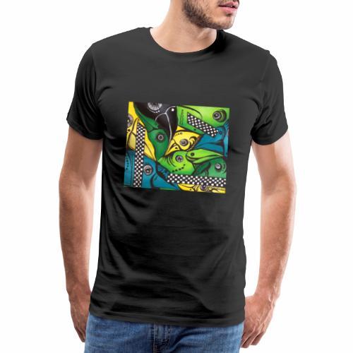 Tropical Birds - Herre premium T-shirt