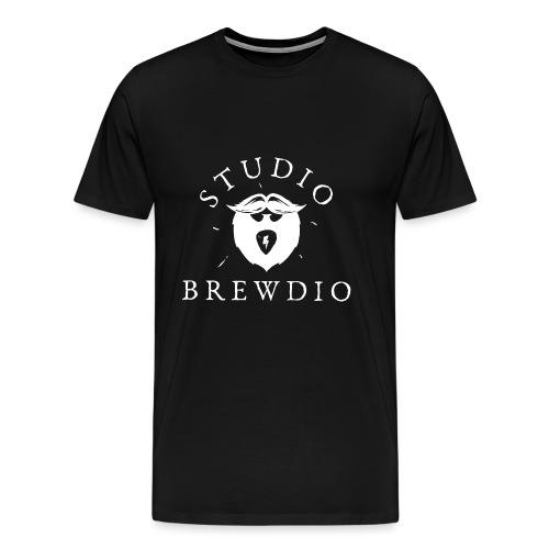 Studio Brewdio Logo White - Men's Premium T-Shirt