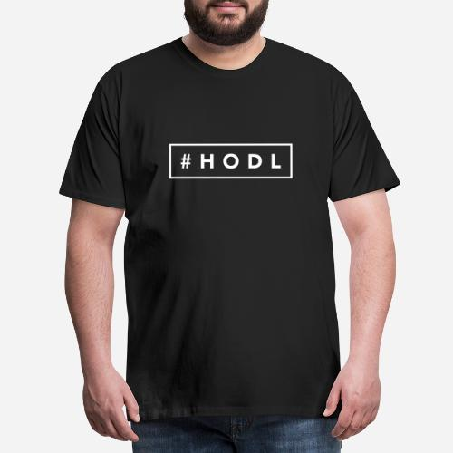 Hashtag HODL - Camiseta premium hombre