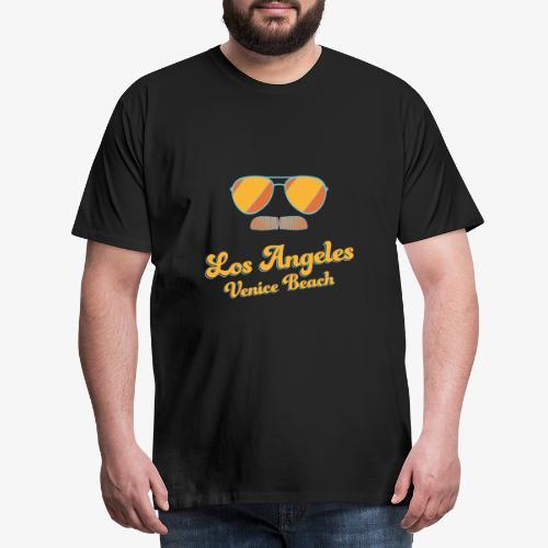 Los Angeles Venice Beach - Sunglasses - Mustache - Männer Premium T-Shirt