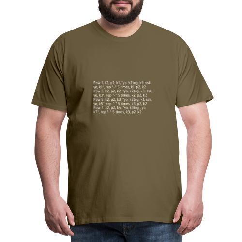 Knit Talk, light - Men's Premium T-Shirt