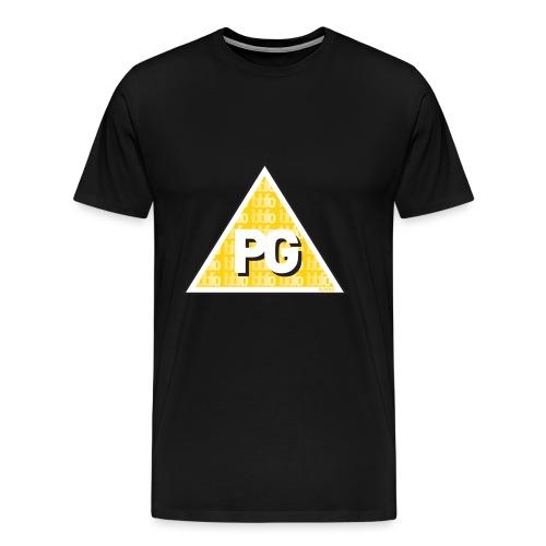 Plato games Logo Groot - Mannen Premium T-shirt