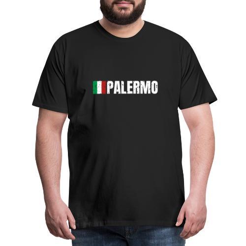 00071 Casa Papel Palermo bandera italia - Camiseta premium hombre