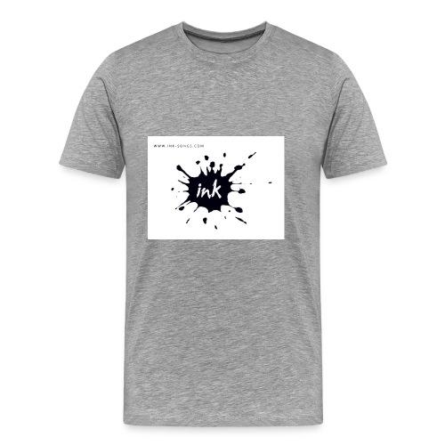 Ink Logo and website - Men's Premium T-Shirt