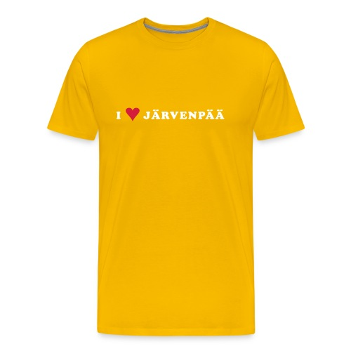 I LOVE JARVENPAA - Miesten premium t-paita