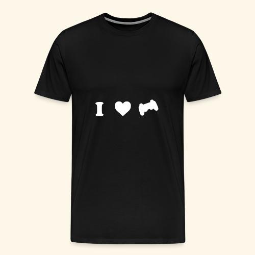 I love videogames - Camiseta premium hombre