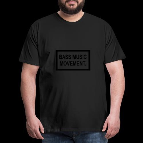 Bass Music Movement - Black - Men's Premium T-Shirt