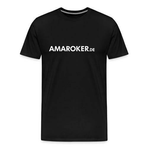 amaroker_logo_neg - Männer Premium T-Shirt