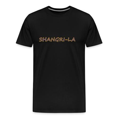 Shangri La goldblau - Männer Premium T-Shirt