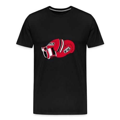Muay thai gloves red - Premium-T-shirt herr