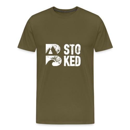 bstoked logo white - Men's Premium T-Shirt