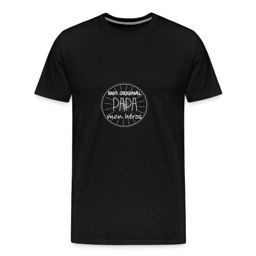 Papa mon héros cadeau tee shirt - T-shirt Premium Homme