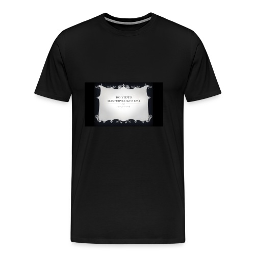 we hit 100 views - Men's Premium T-Shirt